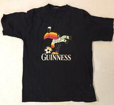 Men's Guinness Toucan T-Shirt Black Cotton L Ireland Football Soccer,