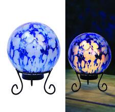 Alpine Glass Blue 10 In. H Led Gazing Ball