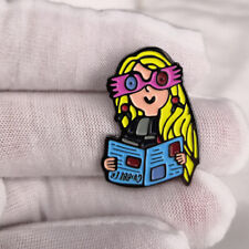 glasses Pins Brooches Enamel Button Jewelr Luna Lovegood magic witch brooch cute