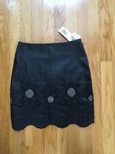 NWT Jealous Tomato Mini Skirt Size Small Faux-Leather with Embroidery & Cut-Outs