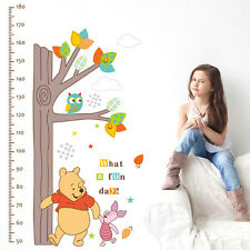 Winnie The Pooh Tree Height Chart Wall Sticker Mural Decal Kids Room Decor DIY