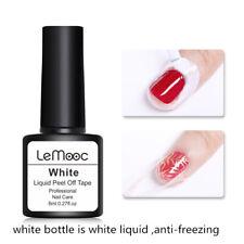 Lemooc 8ml White Anti-freezing Peel Off Nail Latex Cuticle Guard Protector Tools