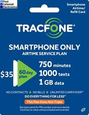 TracFone SmartPhone Plan $35/60Days-750m,1000Text, 1Gb. Fast & Right