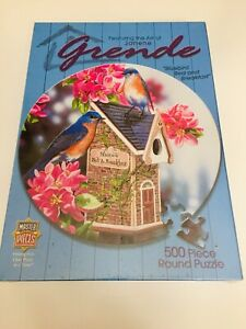 """Bluebird Bed and Breakfast"" Birds Master Pieces 500 Piece. Janene Grende Sealed"