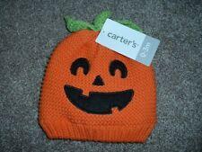Carter's Baby Halloween Pumpkin Knit Sweater Orange Hat Size 0-3 months mos NWT