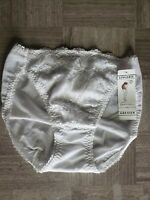 Vintage Grenier Panties White Sexy Sheer Underwear Enbroidery Underwear Medium
