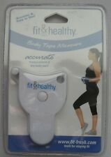 Fit & Healthy Body Tape Measure Locking Pin Push Button Retraction New