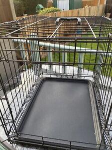 "Marko Pet Accessories Black Metal Folding 24 ""Pet Crate Dog Crate Cage"