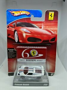 Hot wheels 60th anniversary ferrari racer f50 white free shipping