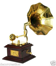 Wooden Handicraft Vintage Gramophone Home Decor Dummy Music Player Gift Item
