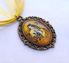 Harry Potter Hufflepuff Crest Necklace Hogwarts House Pendant