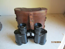 WWII British RAF Air Ministry Binoculars 1942 Taylor Hobson with Leather Case