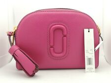 NEW Marc Jacobs M0009474 Shutter Crossbody Bag In Hydrangea PINK Cow Leather