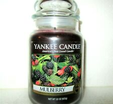"""Yankee Candle Retired """"Mulberry""""~Frui t~Large 22 oz ~White Label~Rare ~ Vhtf ~New"""