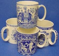 Ensemble de toute quatre Spode Blue & White 250ml standard sized Blue Room tasses