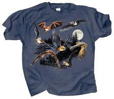Night Fliers T Shirt NEW Adult 2XL XXL North American Bat Full Color Cotton