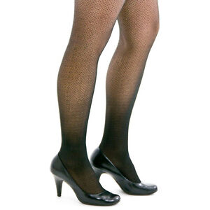 Berkshire TREND Crochet Black Thigh-High Stockings Size A-B