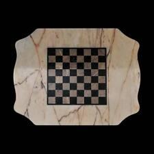 Scacchiera Tavolo in Marmo Italiano Classic Marble Table Chess Board 70x60cm