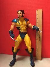 Wolverine Posable Action Figure X-men Yellow Suit No Helmet Toybiz 2003