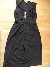 BIBA fliessendes Kleid mit großen Strass-Steinchen schwarz Gr. 34 w. NEU 516