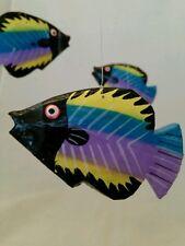 Folk Art Wooden Fish Mobile Handmade in Indonesia
