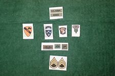 1/6 US Army Long Range RICOGNIZIONE PATTUGLIA Vietnam LRRP Patch set lotto