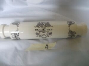 Vintage Rare Colman's The Mustard Shop Rolling Pin.     (A)
