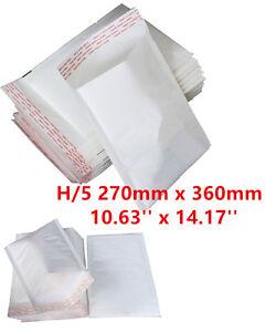 100 H/5 H5 White Strong Padded Bubble Postal MAIL Envelopes LITE 270x360mm UK