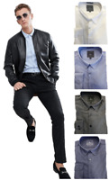 Golf Tailoring Mens Classy Stretchy Pique Button Down Cotton/Spandex Dress Shirt