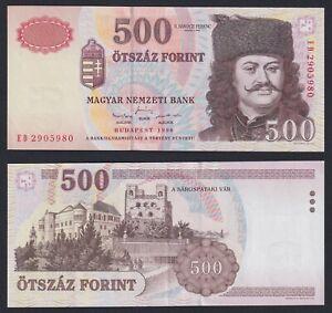 Ungheria 500 forint 1998 SUP/AU  A-01