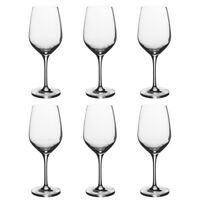Stolzle Eclipse Set of 6 Wine Glasses German Crystal Wine Glasses Stemmed Clear