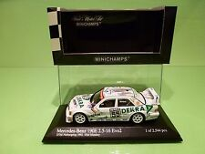 MINICHAMPS  MERCEDES BENZ 190E  DTM NURBURGRING 1992 - OLAF MANTHEY  - 1:43 NMIB