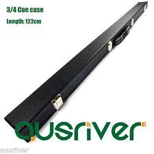 Black 3/4 Billiards Pool Snooker Cue Case Quality PU Cover Soft Sponge Padding