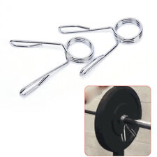 1Pair 50mm Olympic Spring Collar Clips Dumbbell Barbell Clamp Bar Weight Lift HL