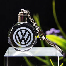car logo keychain crystal light changing car key Chain keyring for Volkswagon VW