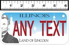 CUSTOM PERSONALIZED 2 HOLE BICYCLE STATE LICENSE PLATE - ILLINOIS 2017