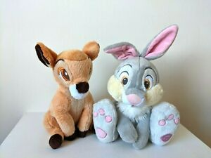 "Disney Store / Bambi & Thumper 12"" Plush / Soft Toys Bundle"