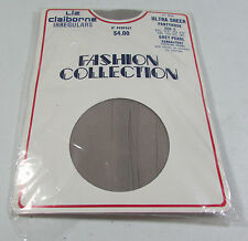 "Vintage Liz Claiborne Irregulars Ultra Sheer Grey Pearl Pantyhose Fits 5'7""-6'0"""