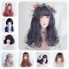 Lolita Cute Ombre Long Short Bob Curly Wavy Bangs Japanese Party Cosplay Wig