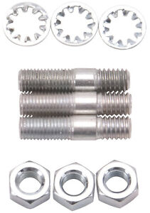 "Edelbrock 8006 Carb Stud Nut and Washer Kit - 5/16"" x 1 1/2"" - 3  Stud"