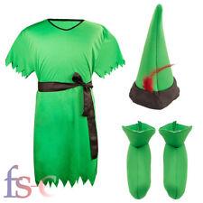 Fairytale Peter Pan Robin Hood Lost Boy Elf Male Mens Adult Fancy Dress Costume