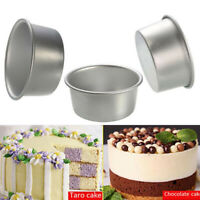 4/6/8/10'' Aluminum Alloy Round Cake Pan Tins Baking Mould Bakeware Tray New