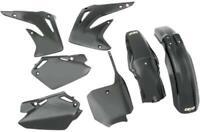 Ufo Black Plastic Kit Fits Honda Cr 85 2003-2007 Cr85 Fender Plate HOKIT109-001