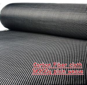 Carbone Fibre Vêtements 3K200g Uni Tissage Tissu 100 X 200 CM Feuille