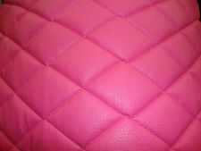 Vinyl Leather Faux vinyl Pink Quilted auto headliner headboard fabric 3 yards