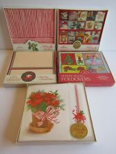 Lot of 5 Vintage Nos Holiday Postalettes Notes Foldovers Hallmark Drawing Board