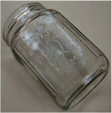 "1940 Palestine KOSHER OLIVE OIL PRODUCT Jewish GLASS JAR Hebrew ""SHEMEN"" Israel"