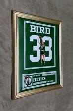Boston Celtics Larry Bird 8x10 framed Jersey photo Green  X
