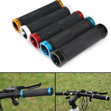 1 Pair Mountain Bike Handle Bar Grips Double Lock On BMX Handlebar Ends Black