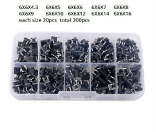 200Pcs 6x6mm 10Size Micro Momentary Tactile Push Button Tact Switch
